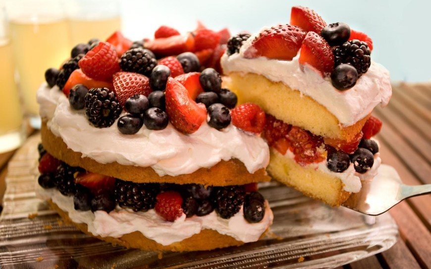 Easy Birthday Cake Recipes Easy Berry Butter Cake Recipe Chowhound