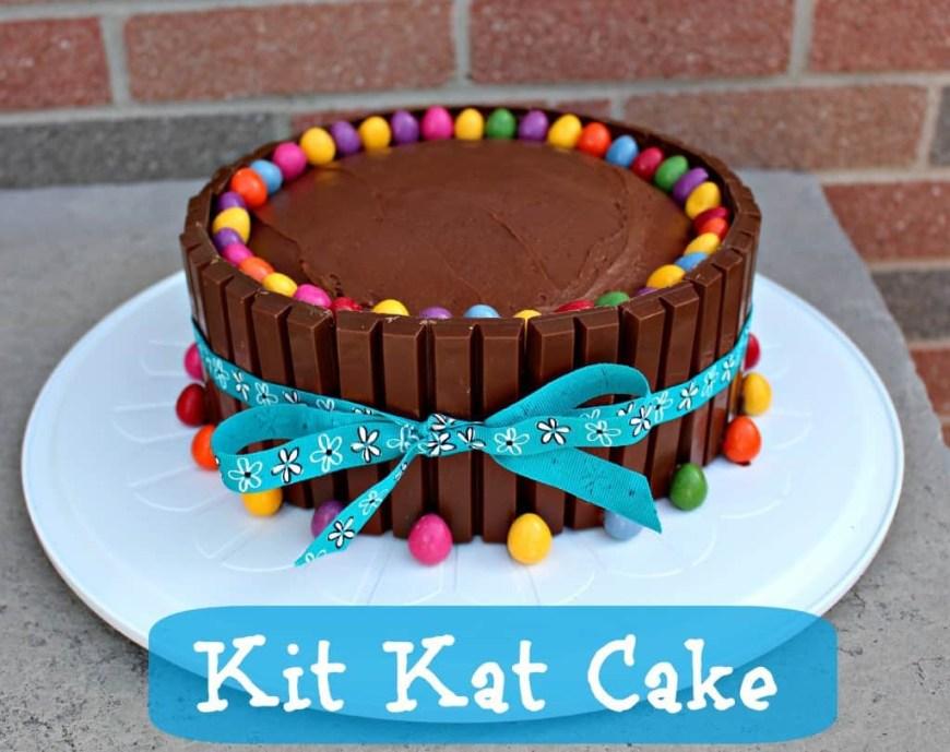 Easy Birthday Cake Recipes Kit Kat Cake Recipe Easy Birthday Cake Idea