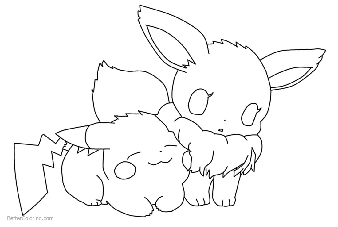 elegant image of eevee evolutions coloring pages