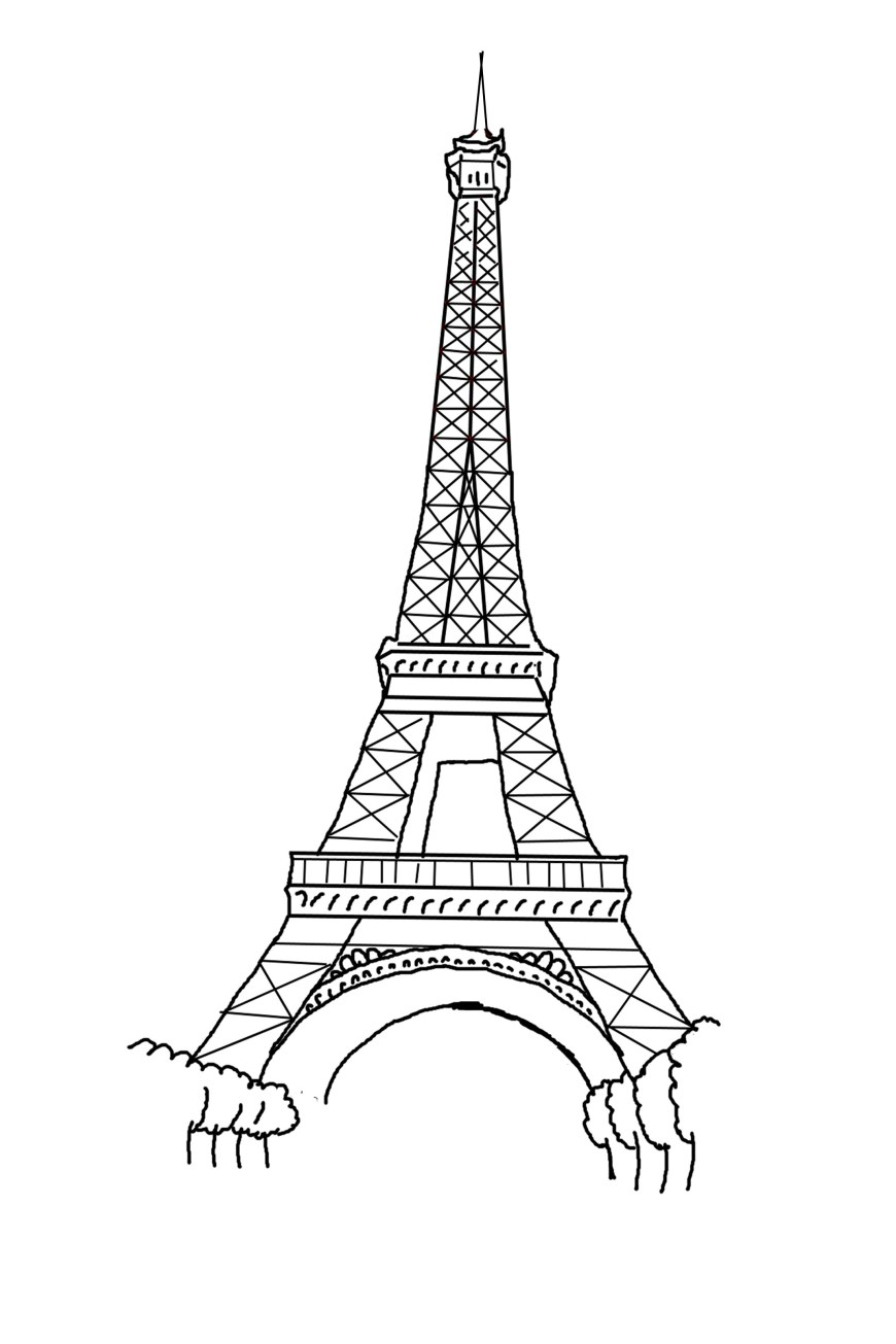 Eiffel Tower Coloring Page Eiffel Tower Coloring Page Best Coloring Pages For Kids
