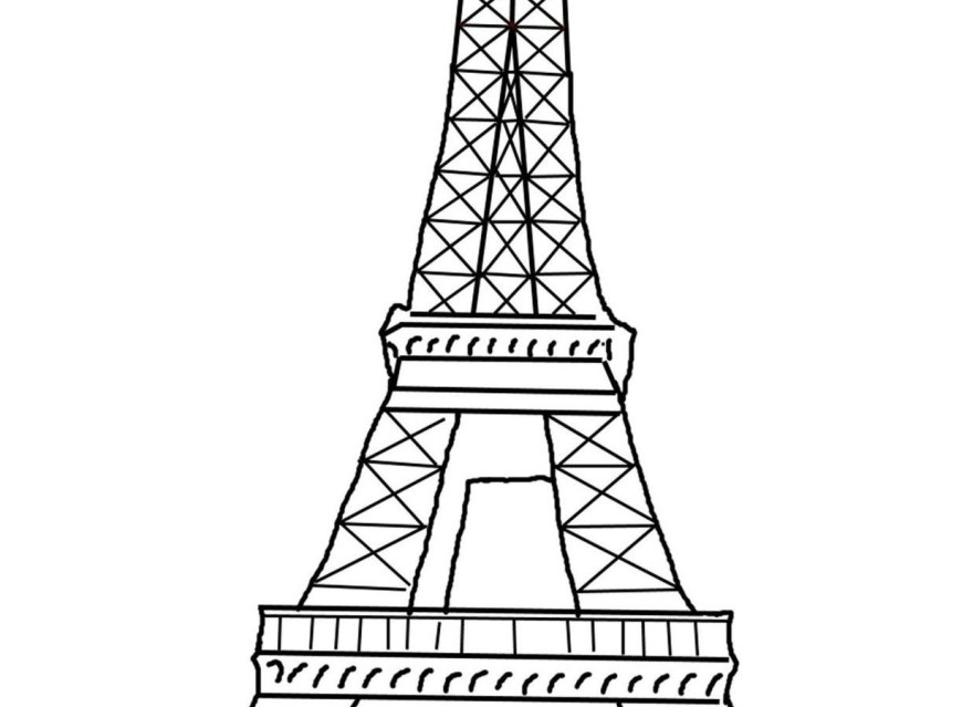 Eiffel Tower Coloring Page Eiffel Tower Coloring Page Paris Pages Printable Book Outline