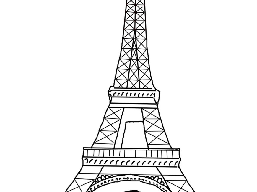 Eiffel Tower Coloring Page Eiffel Tower Coloring Pages Paris Printable Archives Forensicstore