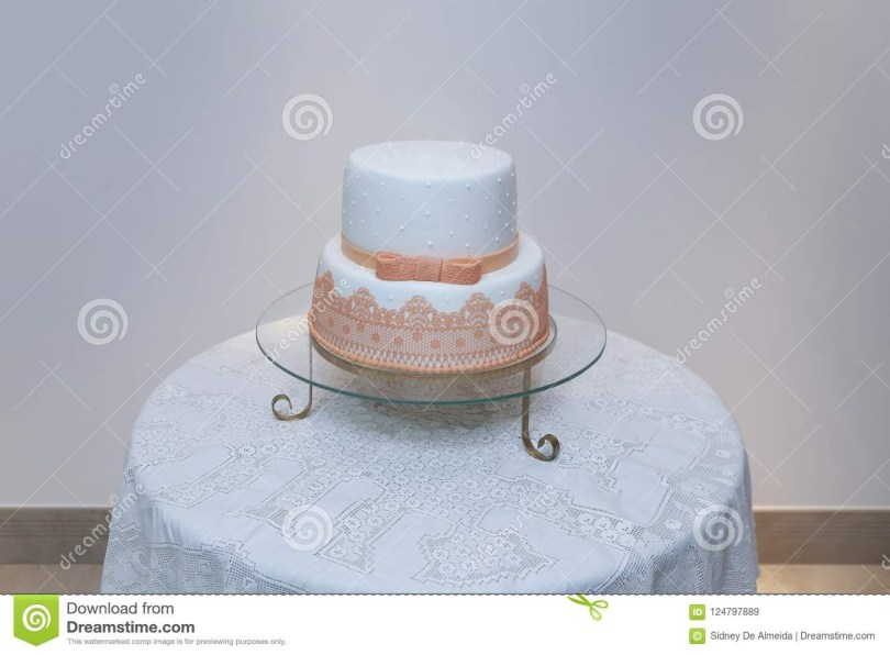 Elegant Birthday Cake Images Elegant Birthday Cake With Orange Color Detail Stock Image Image