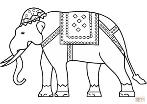 Elephant Coloring Pages Indian Elephant Coloring Page Free Printable Coloring Pages