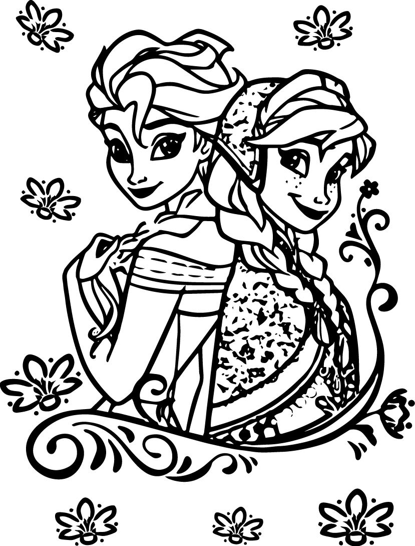 Elsa Anna Coloring Pages 28 Elsa Anna Coloring Pages Images Free Coloring Pages Part 2
