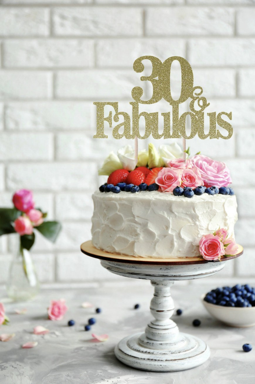 Fabulous Birthday Cakes 30 And Fabulous Birthday Cake Topper 30 And Fabulous 60 And Etsy