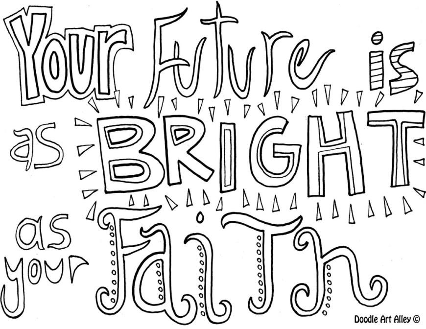 Faith Coloring Pages Faith Coloring Pages Religious Doodles