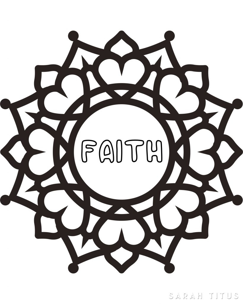 Faith Coloring Pages Free Printable Faith Hope Love Coloring Sheets Sarah Titus