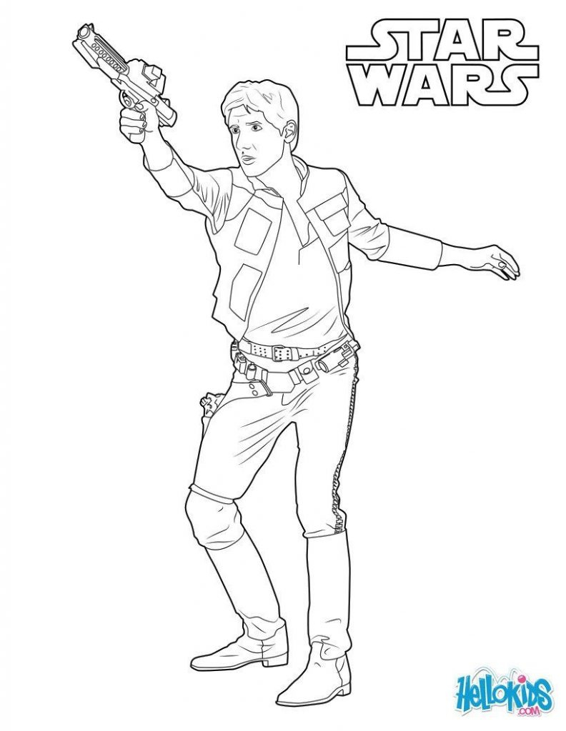 Falcon Coloring Pages Han Solo Captain Of The Millennium Falcon Coloring Page More The