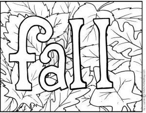Fall Coloring Pages 4 Free Printable Fall Coloring Pages Preschool Pinterest In For