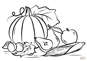 Fall Coloring Pages Autumn Harvest Coloring Page Free Printable Coloring Pages