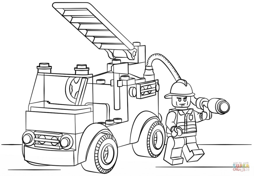 Fire Truck Coloring Page Cool Simple Fire Truck Coloring Page Fire Truck Coloring Page
