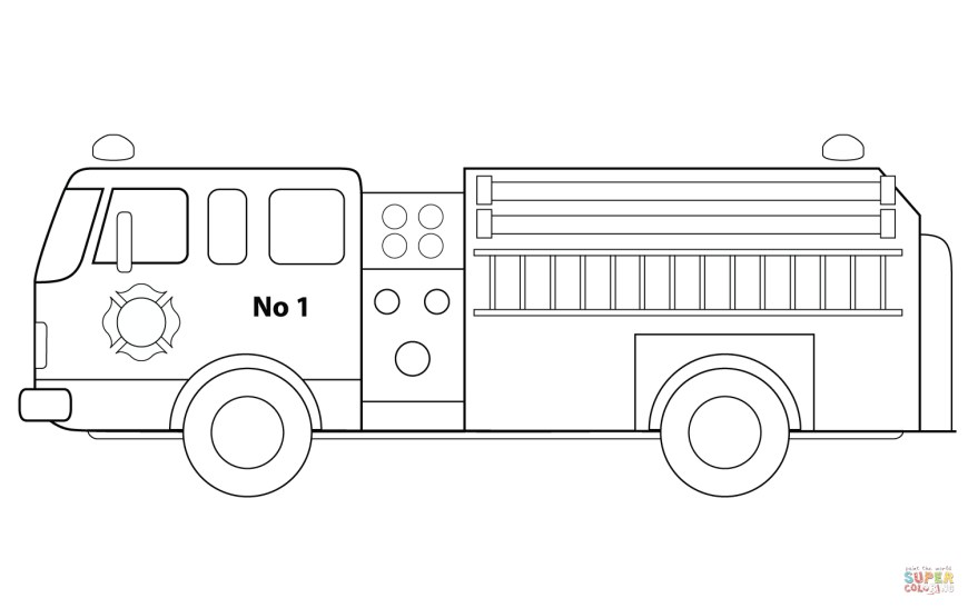 Fire Truck Coloring Page Fire Engine Coloring Page Free Printable Coloring Pages