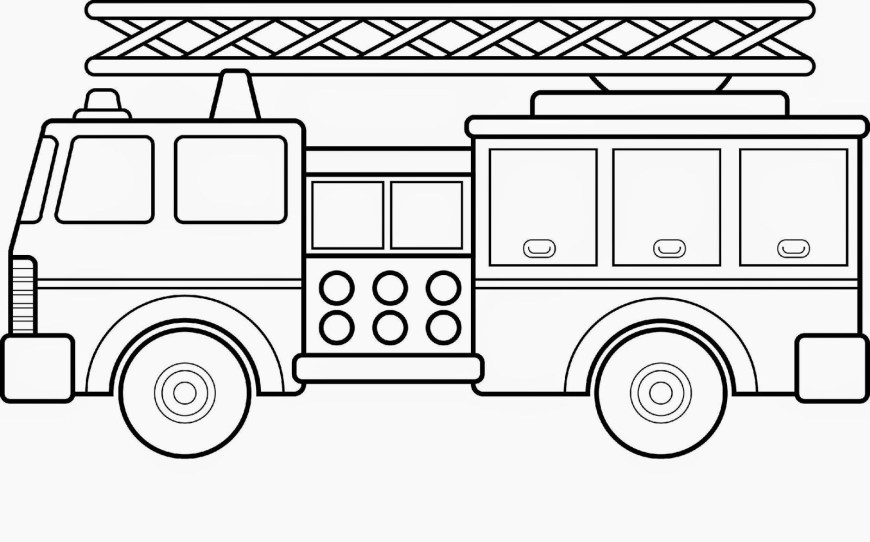 Fire Truck Coloring Page Luxury Ladder Truck Coloring Page Viranculture