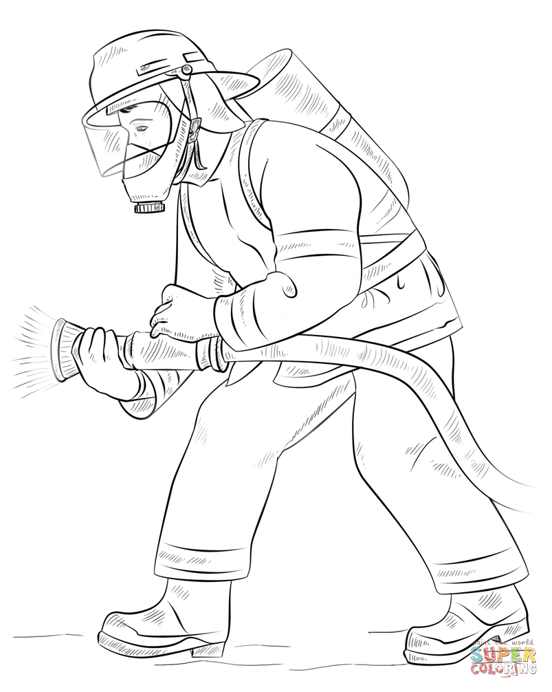 Fireman Coloring Pages Fireman Coloring Page Free Printable Coloring Pages