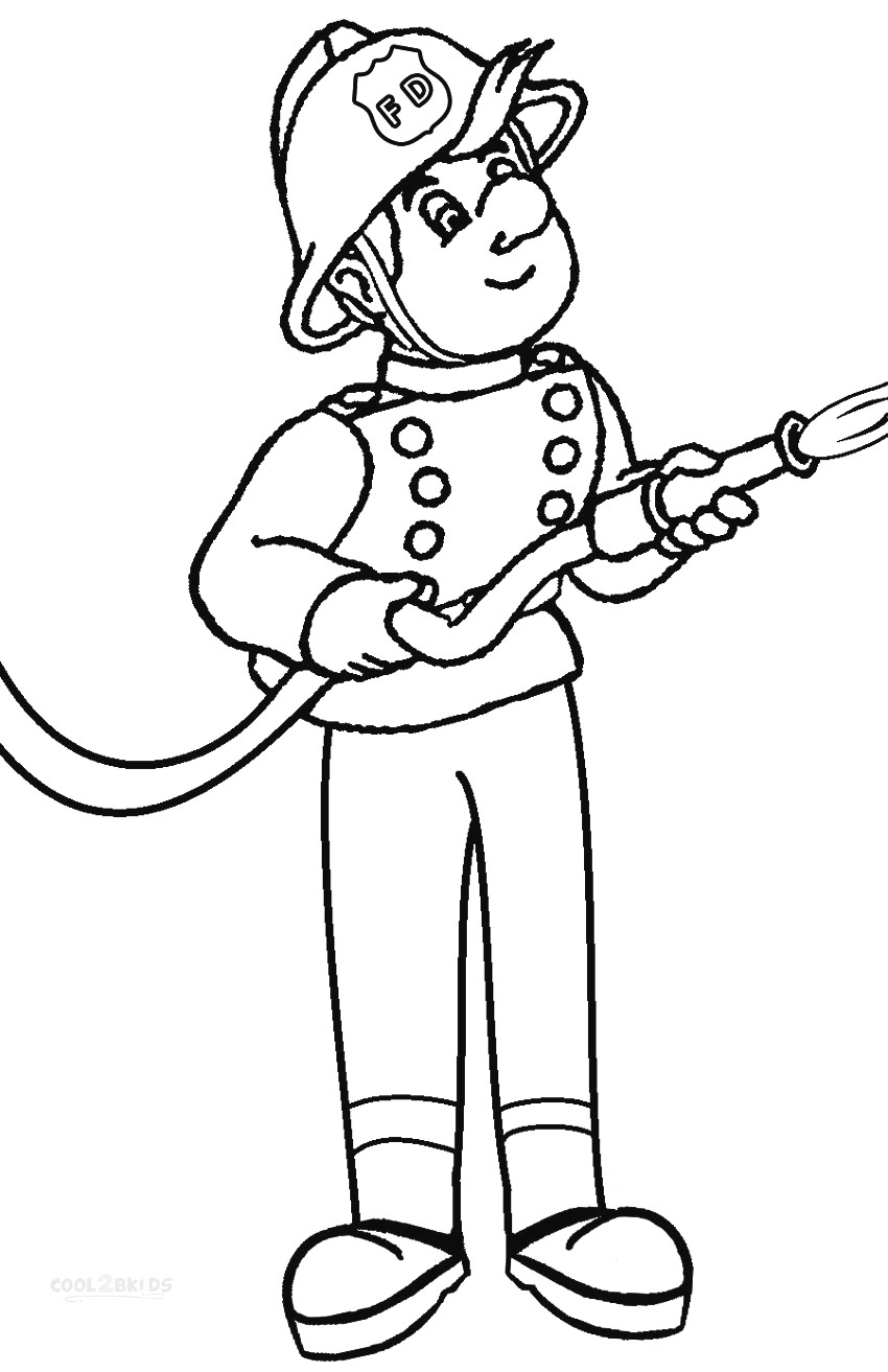 Fireman Coloring Pages Fireman Coloring Pages Coloring Pages