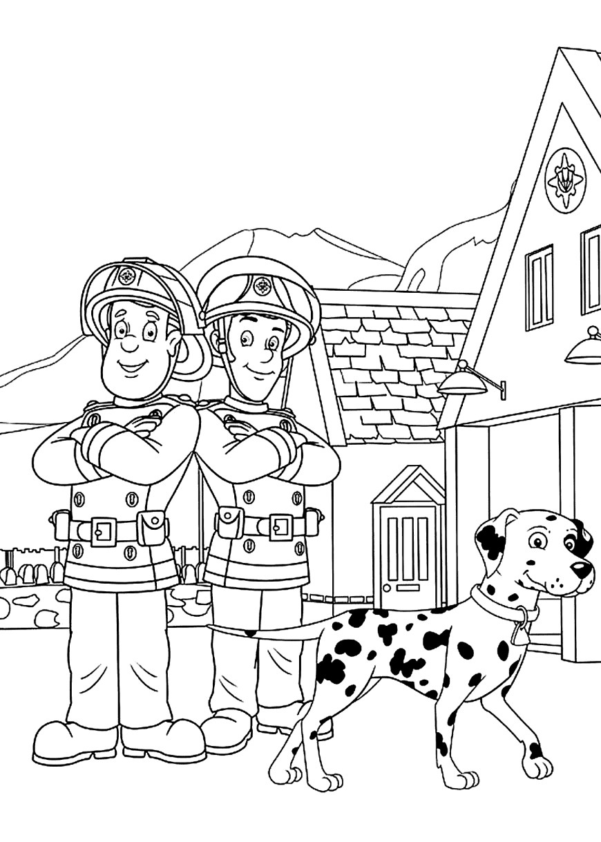 Fireman Coloring Pages Fireman Sam Coloring Pages To And Print For Free Ruva