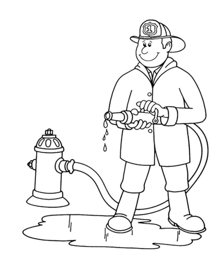 Fireman Coloring Pages Fireman Sam Coloring Pages To Print Fireman Coloring Pages Free