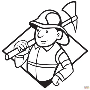 Fireman Coloring Pages Fireman With Axe Coloring Page Free Printable Coloring Pages
