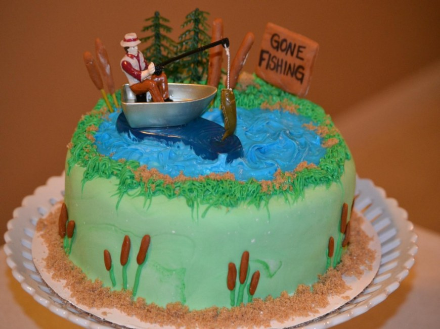 Fish Birthday Cakes Fishing Birthday Cakes