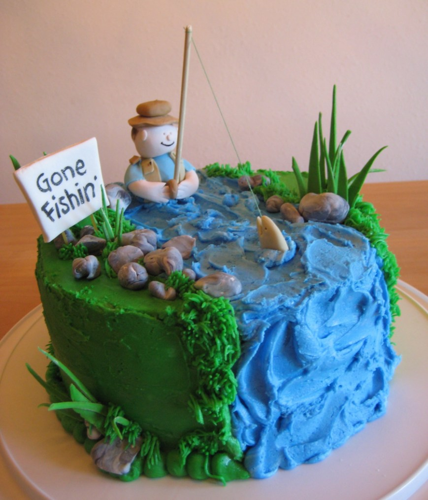 Fish Birthday Cakes Fishing Cakes Decoration Ideas Little Birthday Cakes