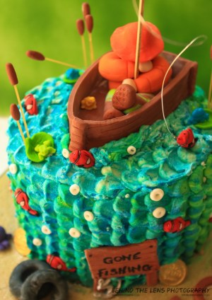 Fish Birthday Cakes Gone Fishing Birthday Cake The Pastry Angel