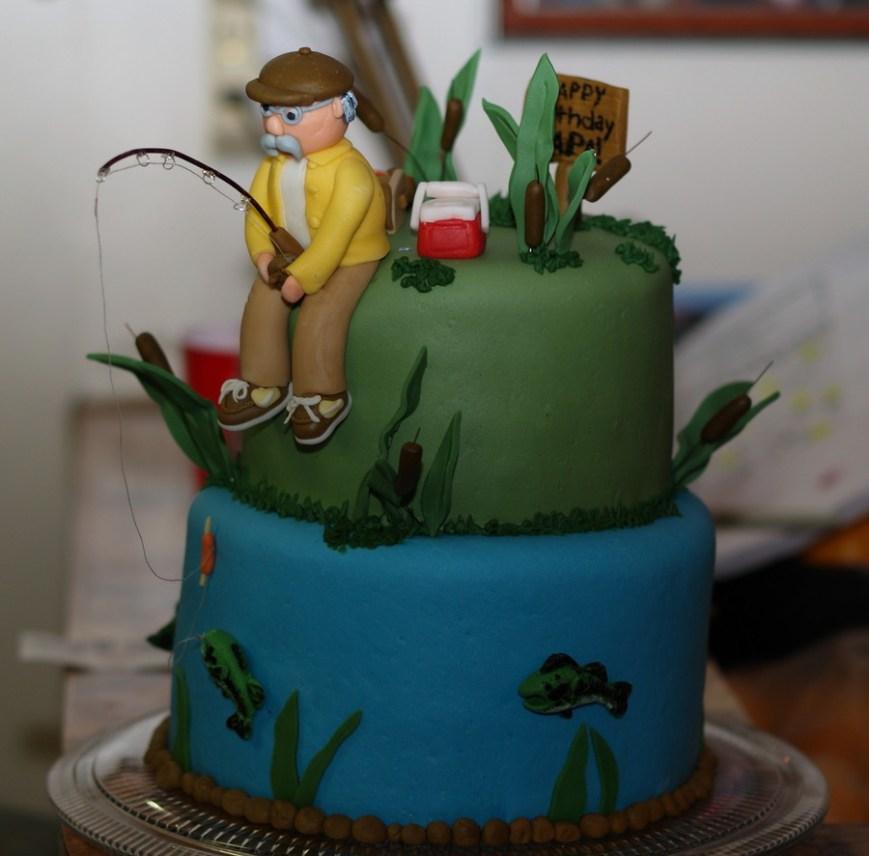 Fishing Birthday Cake Fishing Birthday Cake Cakecentral