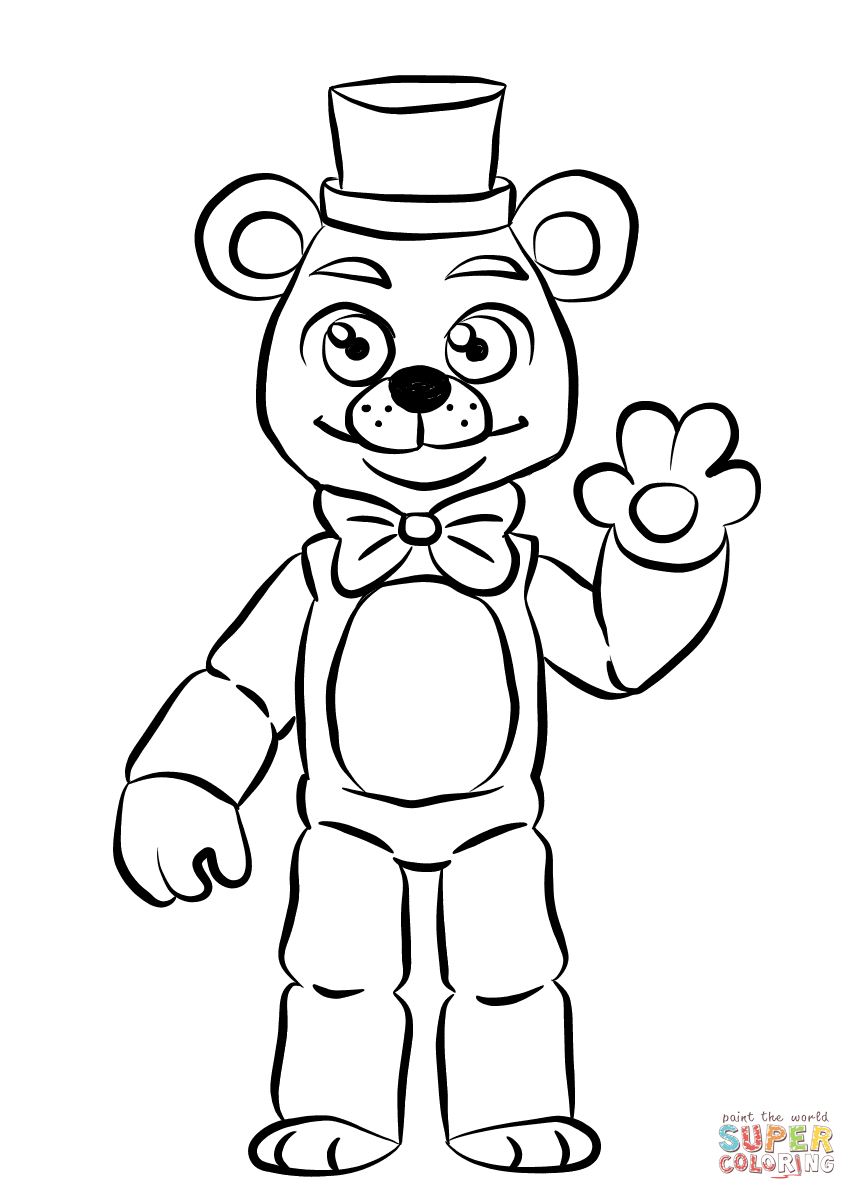 Fnaf Coloring Pages Fnaf Golden Freddy Coloring Page Free Printable Coloring Pages
