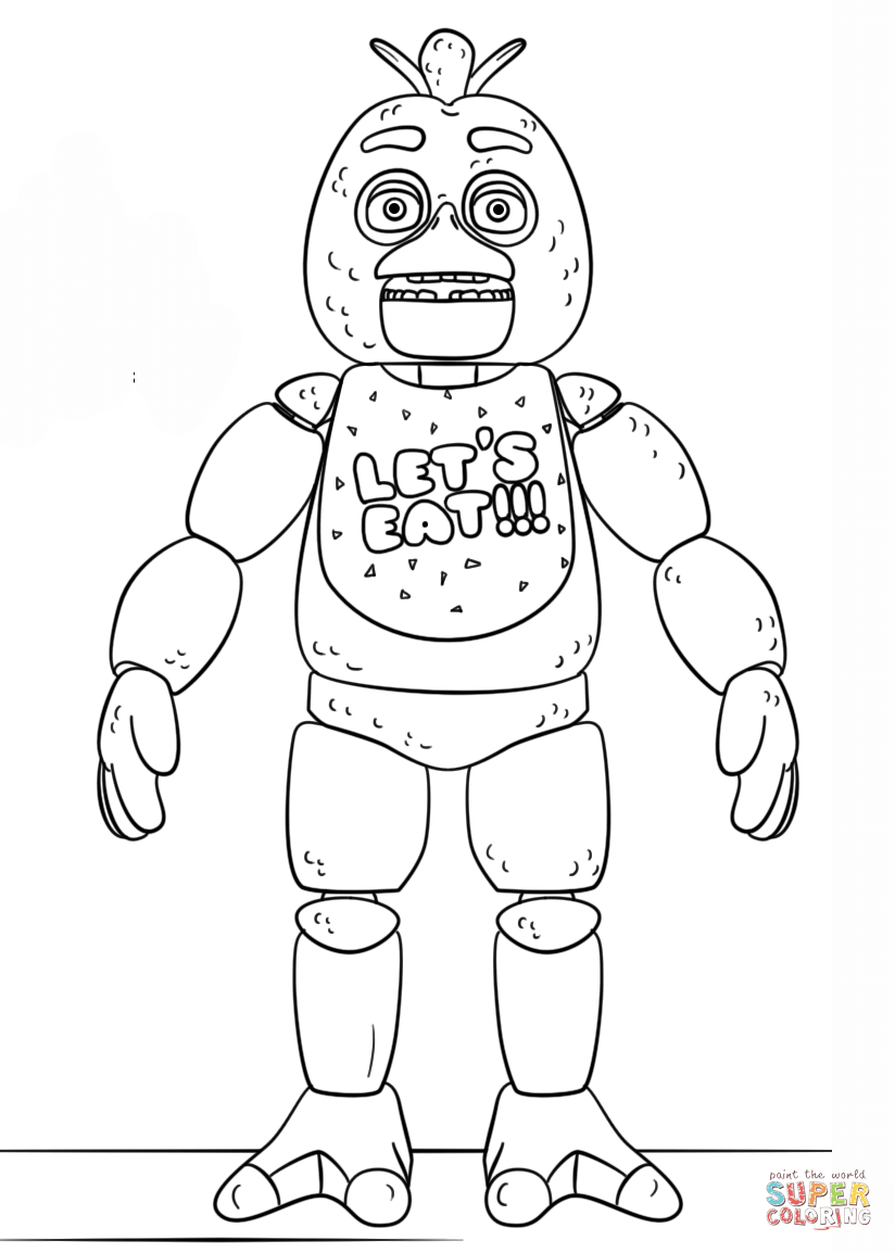 Fnaf Coloring Pages Fnaf Toy Chica Coloring Page Free Printable Coloring Pages