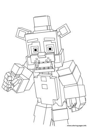 Fnaf Coloring Pages Minecraft Freddy Fnaf Coloring Pages Printable