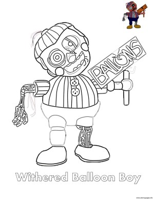 Fnaf Coloring Pages Withered Balloon Boy Fnaf Coloring Pages Printable