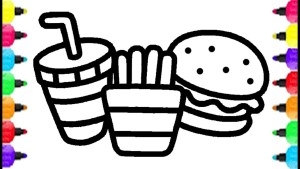 Food Coloring Pages Fast Food Coloring Pages How To Draw And Coloring Fast Food Learn