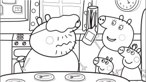 Food Coloring Pages Food Coloring Pages With Daddy Pig Peppa Pig Coloring Book Pages