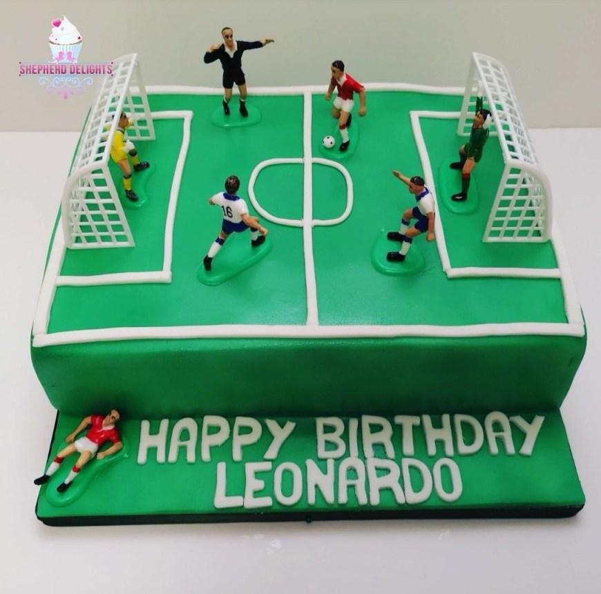 Football Birthday Cake Football Pitch Birthday Cake Birthday Cakes