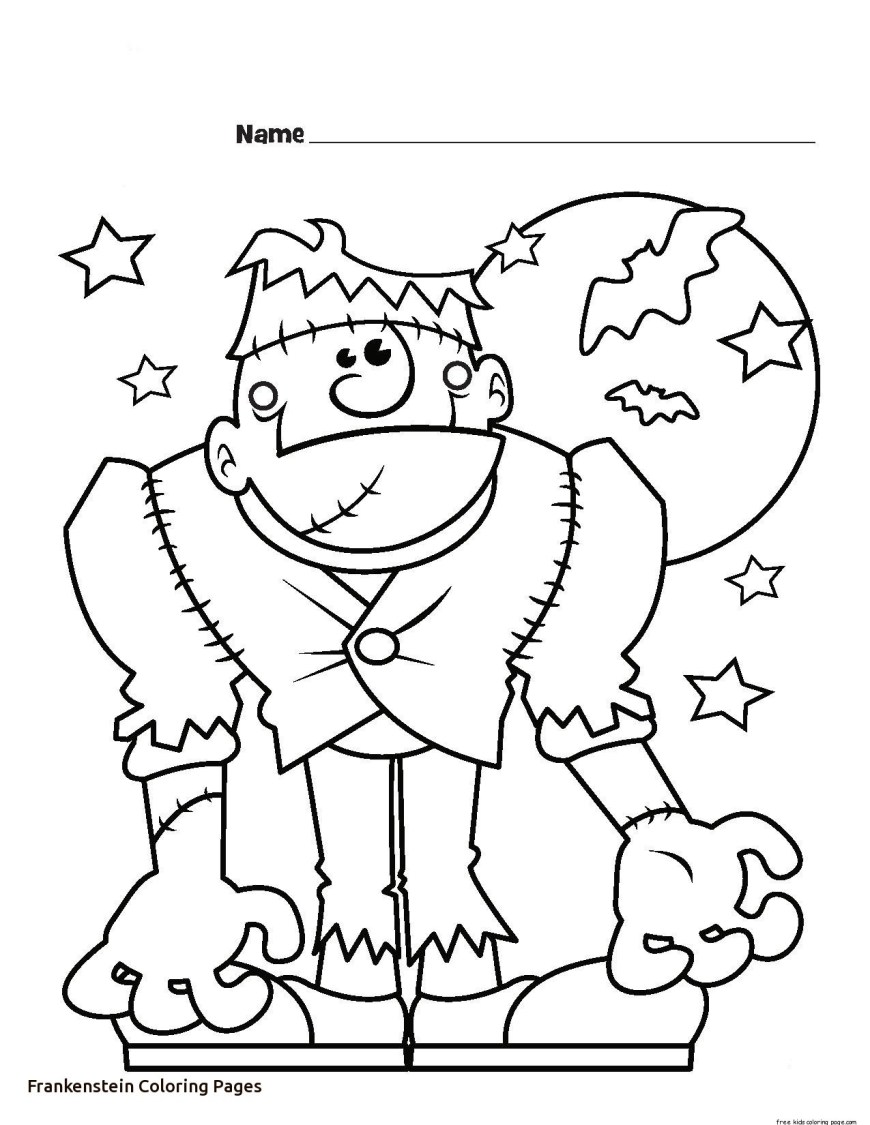 Frankenstein Coloring Pages Frankenstein Coloring Page Cosmo Scope