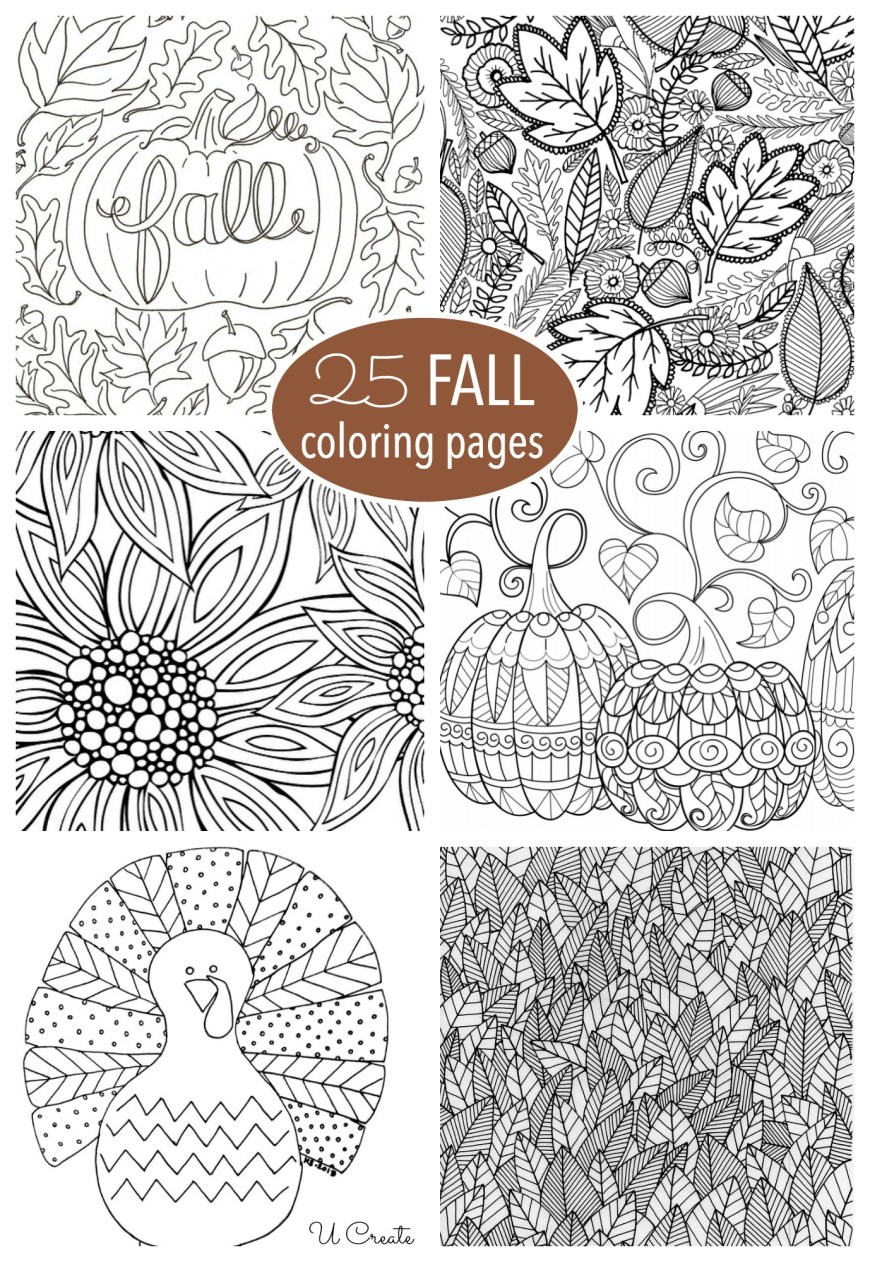 Free Adult Coloring Pages To Print Free Fall Adult Coloring Pages U Create
