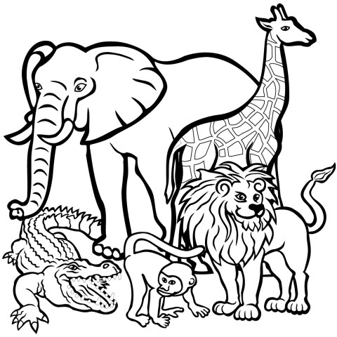 Free Animal Coloring Pages African Animals Coloring Page Free Printable Coloring Pages