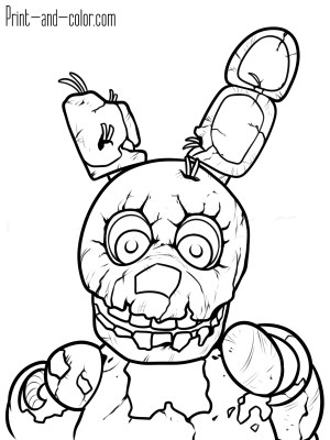 Free Coloring Pages To Print Five Nights At Freddys Coloring Pages Print And Color