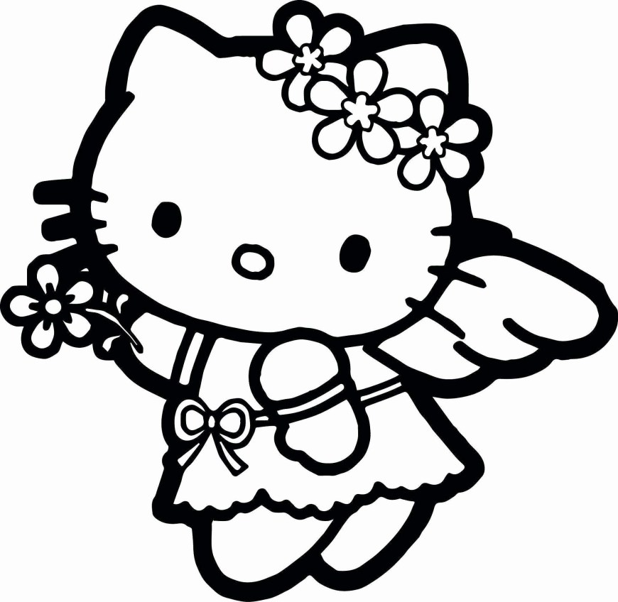 Free Coloring Pages To Print Hello Kitty Coloring Pages To Print Out For Free Beautiful 38