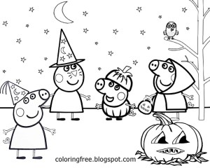 Free Halloween Coloring Pages Peppa Pig Halloween Coloring Pages E7cf5fed810392c9f6f967bff9d40b4b