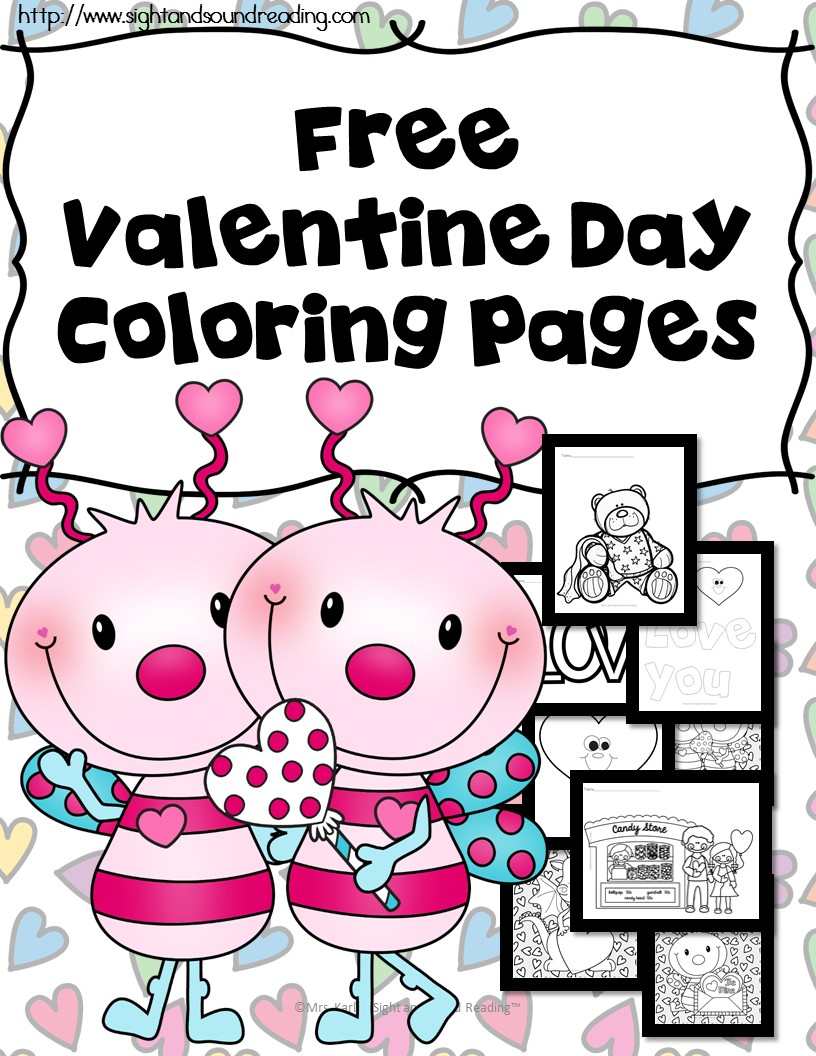 Free Printable Valentine Coloring Pages Free Printable Valentines Day Coloring Pages Money Saving Mom