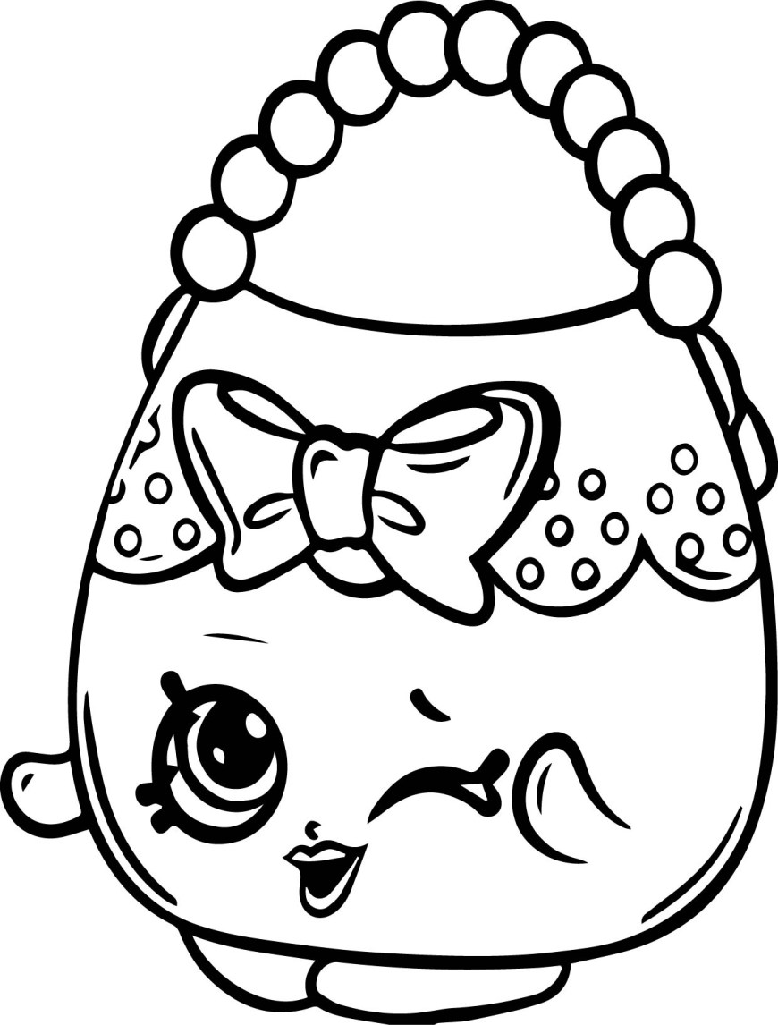 Free Shopkins Coloring Pages Coloring Pages Shopkins Awesome Shopkins Handbag Free Coloring Page
