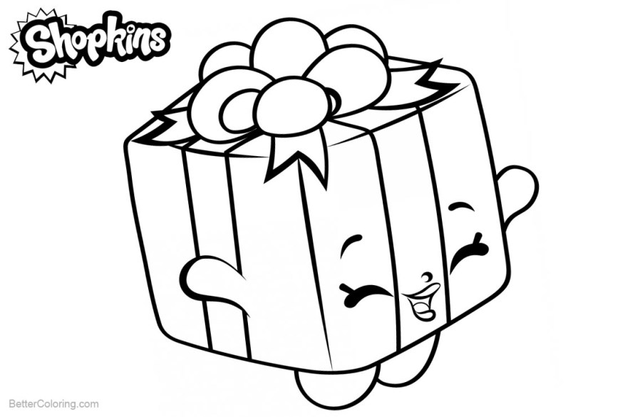 Free Shopkins Coloring Pages Shopkins Coloring Pages Present Free Printable Coloring Pages