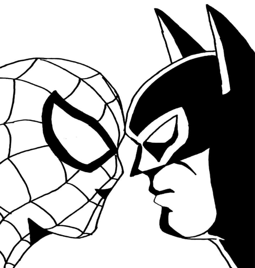 Free Spiderman Coloring Pages Spiderman Coloring Pages Free With Flag Also Printable For Kids