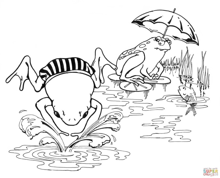 Frog Coloring Pages Frogs Coloring Pages Free Coloring Pages