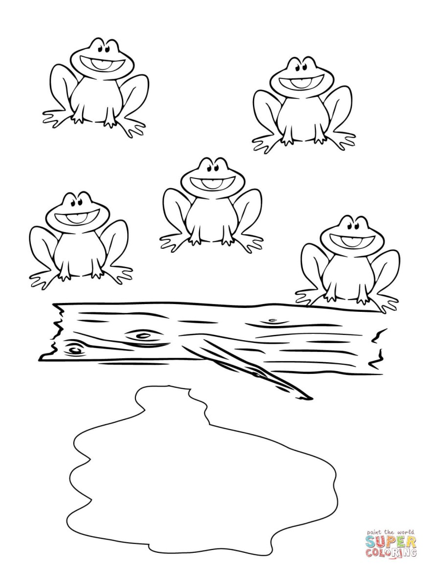 Frog Coloring Pages Princess And The Frog Colouring Pages Five Little Speckled Frogs