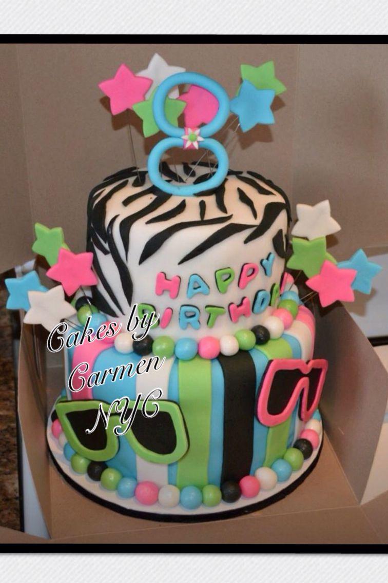 Fun Birthday Cakes Fun Birthday Cake Stars Sunglasses And Pretty Colors Birthday