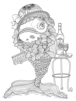 Funny Coloring Pages Fish Humour Water Worlds Adult Coloring Pages