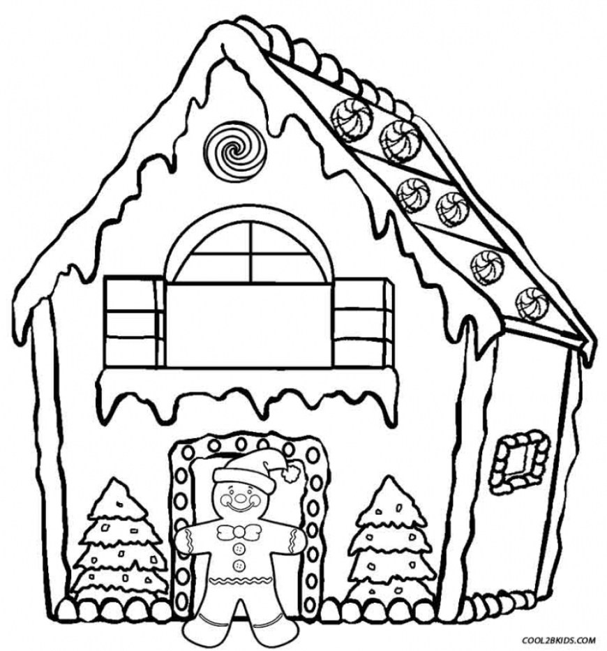 Gingerbread House Coloring Pages Gingerbread House Coloring Page Coloring Pages
