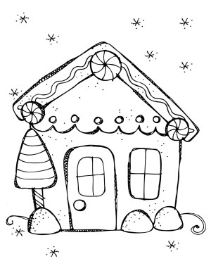 Gingerbread House Coloring Pages Gingerbread House Coloring Page Mikalhameed Com Incredible Design